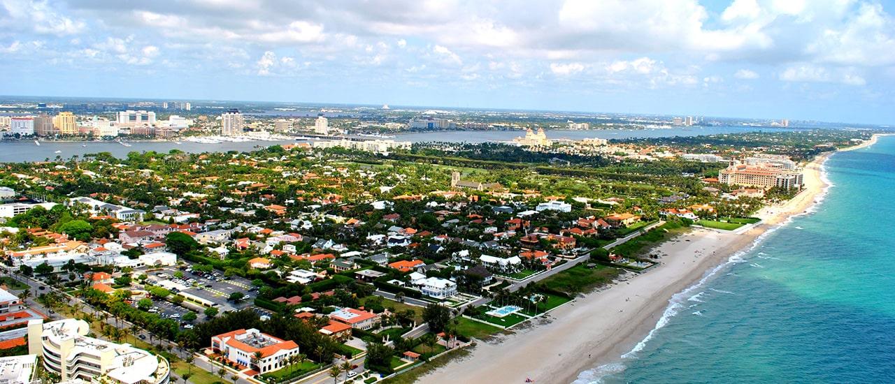 aerial image of palm beach florida