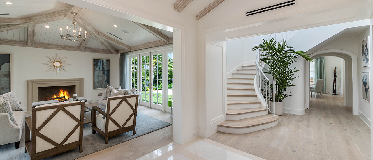 den and grand stairs remodeled by Ecclestone Homes