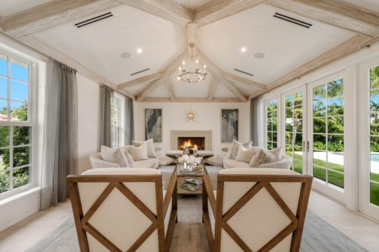 Arabian Living Room with fireplace by Ecclestone Homes