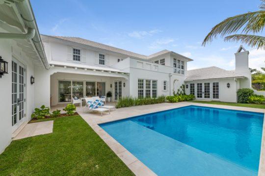 Arabian Road backyard exterior and pool by Ecclestone Homes