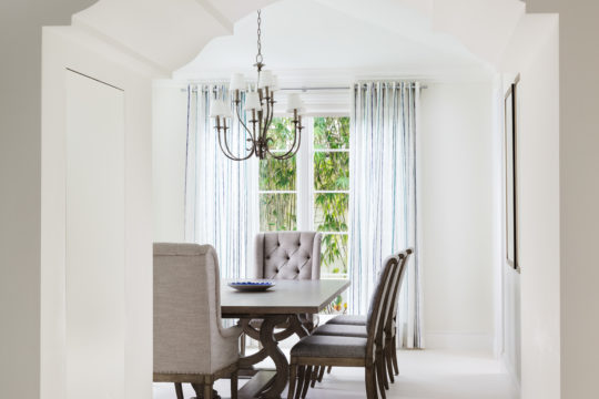 Dining room inside Palmo home by Ecclestone