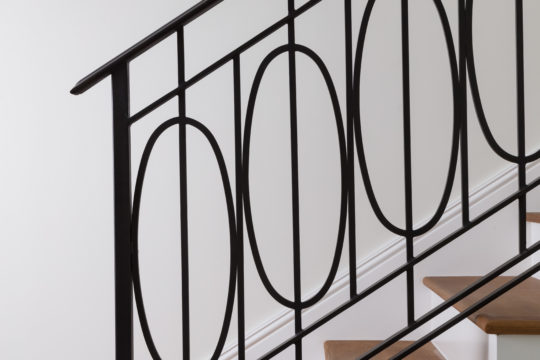 Decorative Iron Stair railing in Palmo Signature Residence