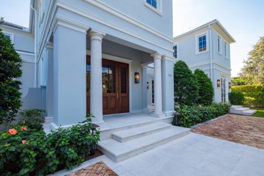 Palmo front door and exterior by Ecclestone Signature Homes