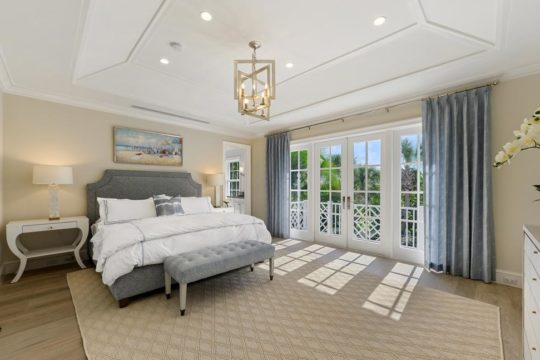 modern beach master suite by ecclestone homes
