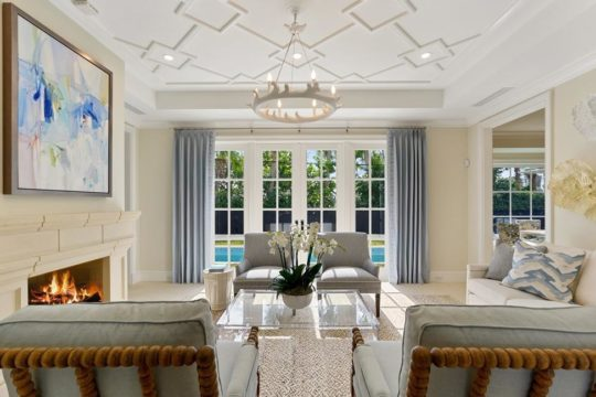 modern beach living room by ecclestone homes