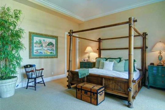Lost Tree Village bedroom with bamboo bed before ecclestone