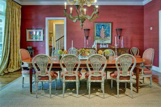 Lost Tree Village colorful dining room before ecclestone renovation