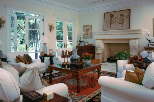 eclectic designed great room before Ecclestone Homes Remodel