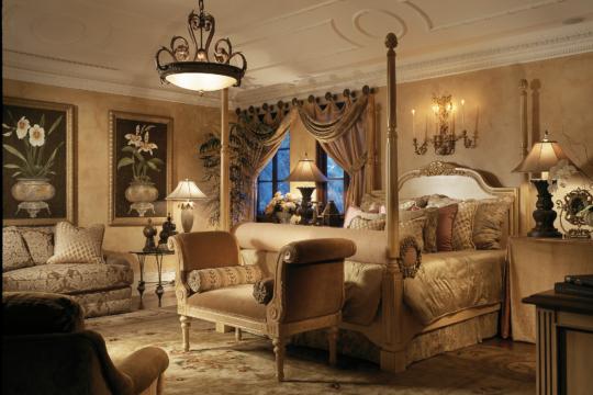 Woodbridge gold bedroom before ecclestone signature homes