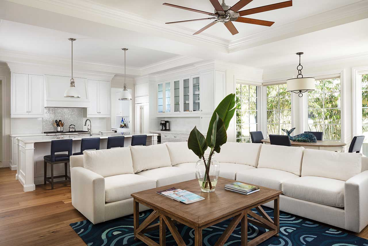 Palm beach kitchen great room remodel by ecclestone homes