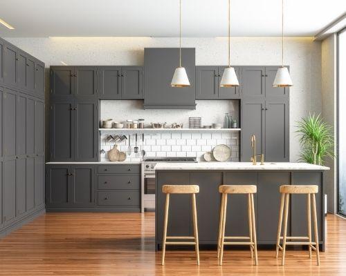 modern black kitchen ecclestone